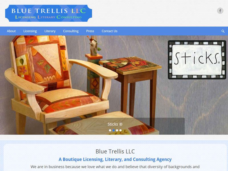 Blue Trellis
