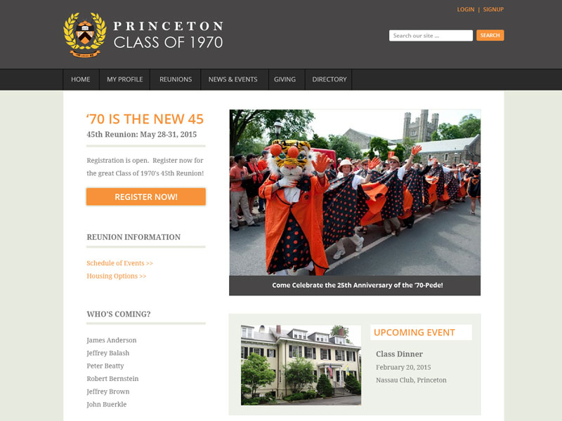 Princeton University Class of 1970